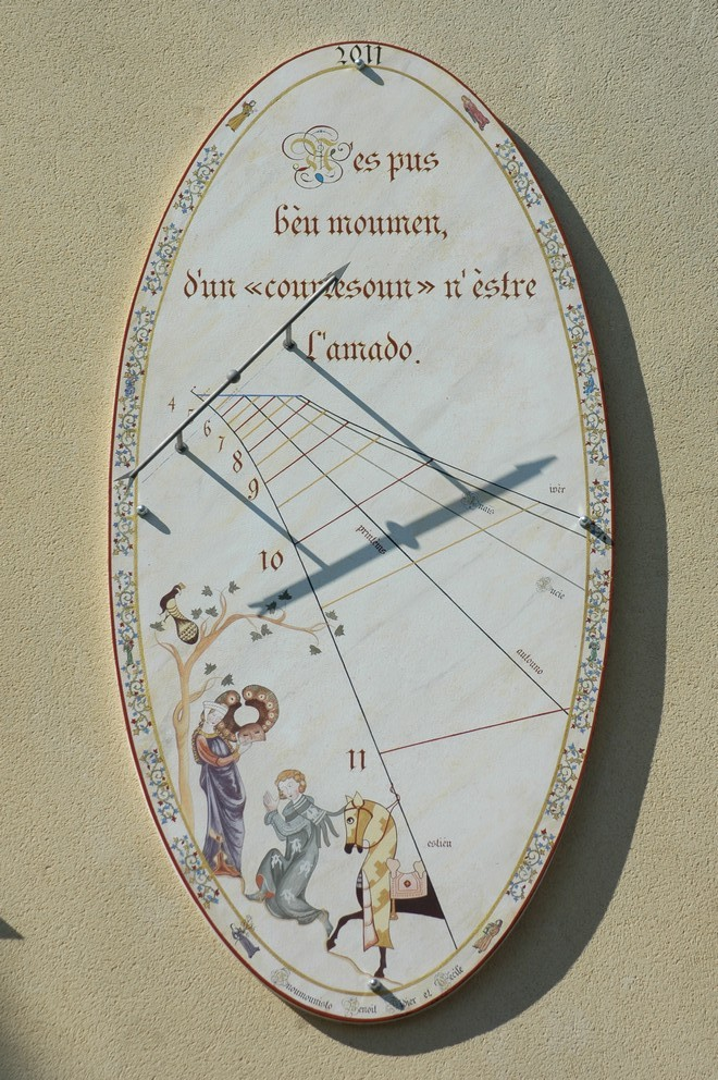 Cadran solaire création Benoit Courthézon Vaucluse
