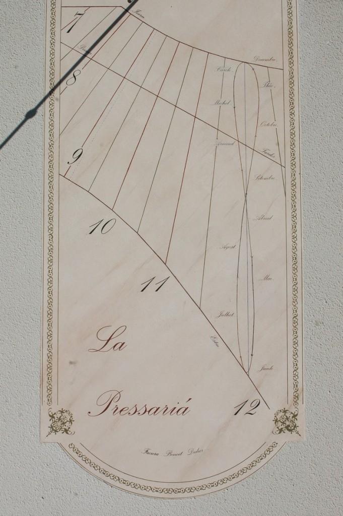 Cadran solaire création Benoit Courniou-les-Grottes Hérault.