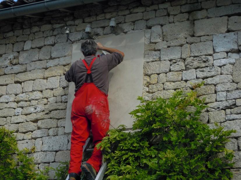 Cadran solaire restauration Benoit Andillac Tarn.