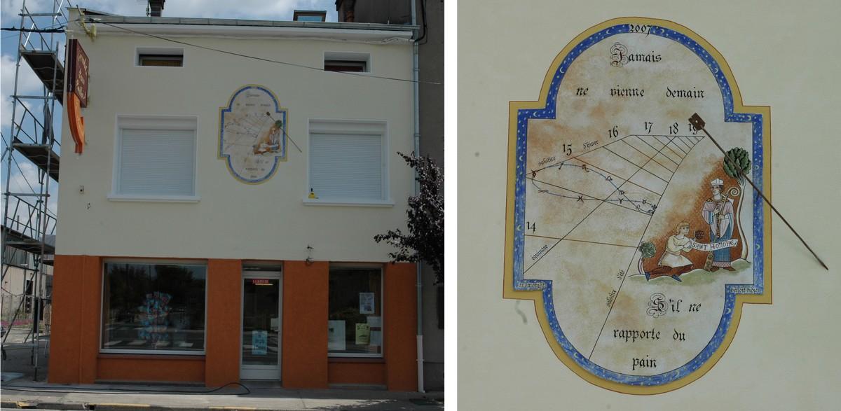 Cadran solaire création Benoit Albi Tarn.