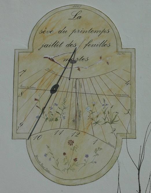 Cadran solaire création Benoit Sainte-Gemme Tarn.