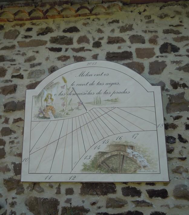 Cadran solaire création Benoit Salles-sur-Cérou Tarn.