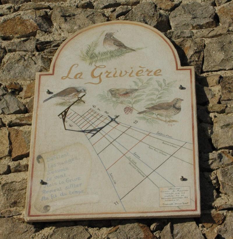 Cadran solaire création Benoit Malcros Haute-Loire.