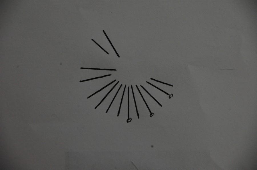 Cadran solaire Benoit Sainte Cecile du Cayrou Tarn.