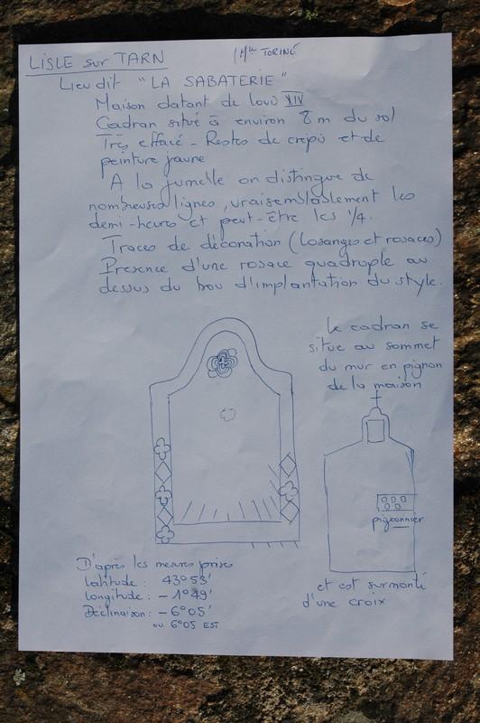 Cadran solaire Benoit Lisle-sur-Tarn Tarn