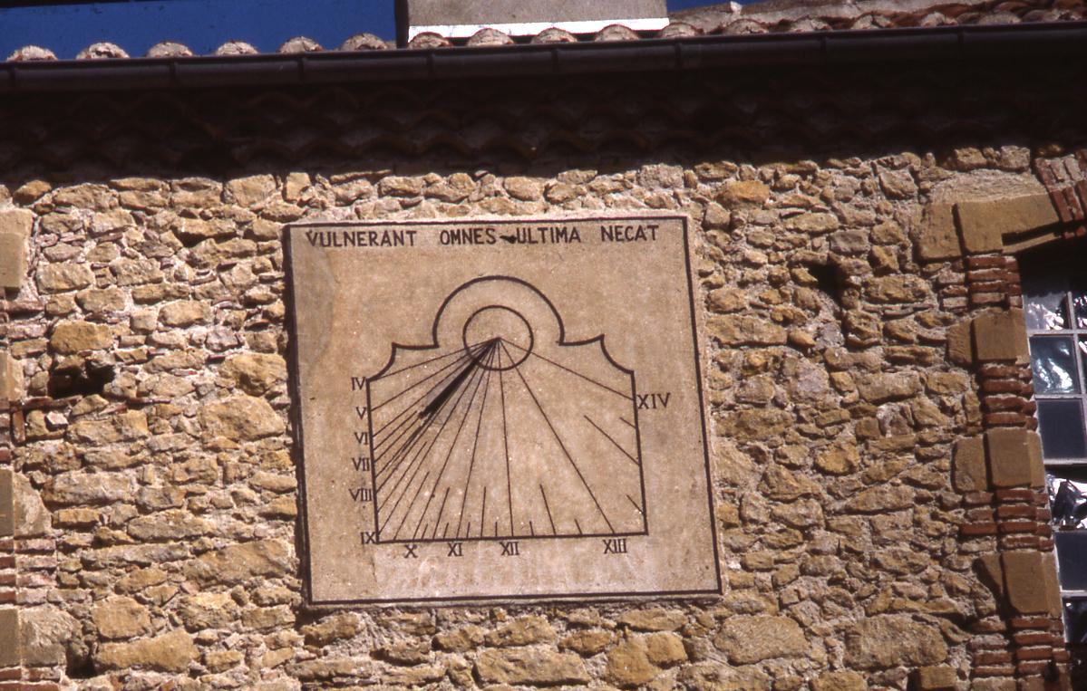 Cadran solaire Benoit Montgey Tarn.