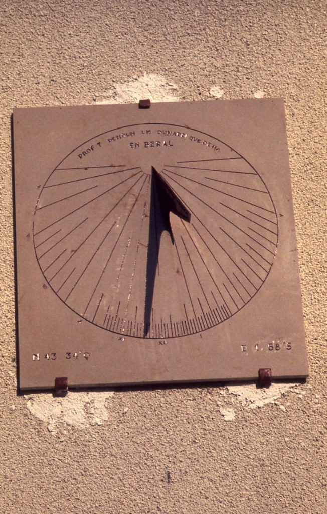 Cadran solaire Benoit Puylaurent Tarn.