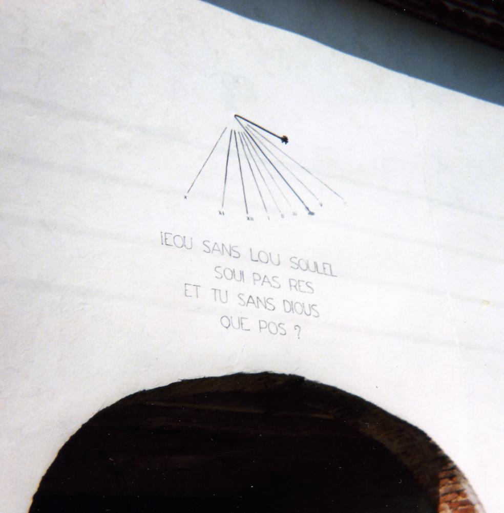 Cadran solaire Benoit Castres Tarn.
