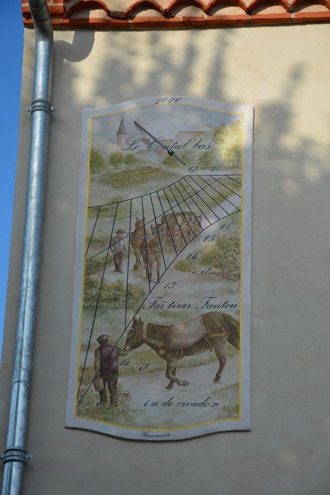 Cadran solaire Benoit Carmaux Tarn.